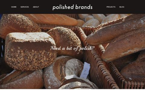 Screenshot of About Page polished-brands.com - About — Polished Brands - captured Nov. 8, 2016