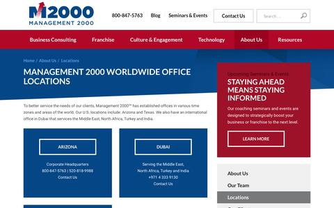 Screenshot of Locations Page mgmt2000.com - Locations | Worldwide Business Consulting | Management 2000 - captured Feb. 4, 2016