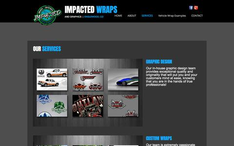 Screenshot of Services Page impactedwraps.com - Impacted Wraps & Graphics | Denver Vehicle Wraps - captured March 6, 2018