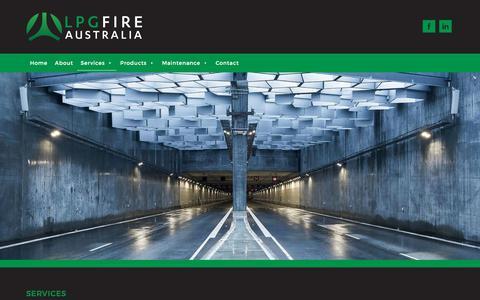 Screenshot of Services Page lpgfire.com.au - Services – LPG Fire Australia - captured Sept. 25, 2018