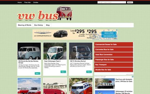 Screenshot of Blog vwbussale.com - VW Bus for Sale: Blog - captured Nov. 13, 2016