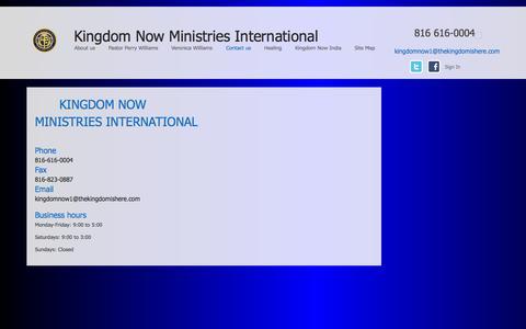 Screenshot of Contact Page thekingdomishere.com - Contact us - captured Oct. 6, 2014