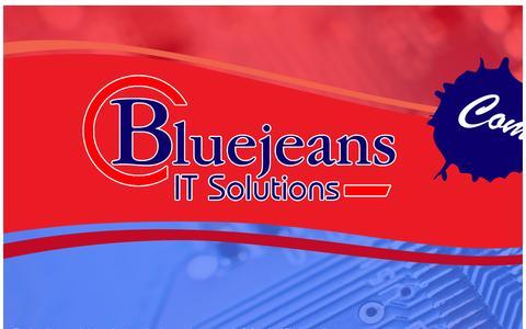 Screenshot of Home Page sahainternational.com - BlueJeans IT Solutions - captured Aug. 2, 2015