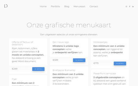 De menukaart van LogoDebut; onze diensten en prijzen — LogoDebut
