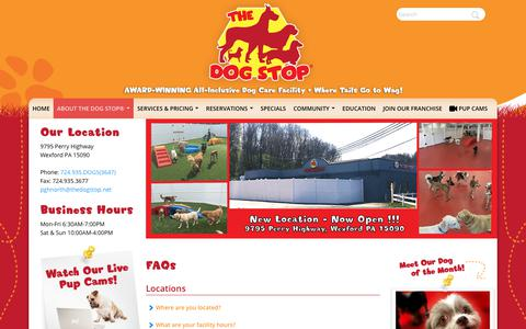 Screenshot of FAQ Page thedogstop.net - FAQs | The Dog Stop® Monroeville - captured Oct. 16, 2017