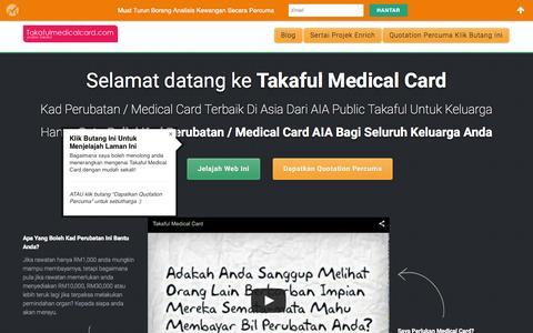 Screenshot of Home Page takafulmedicalcard.com - Takaful Medical Card & Kad Perubatan Takaful | AIA Public Takaful - captured Sept. 6, 2015