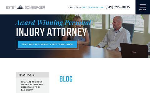 Screenshot of Blog ebtrialattorneys.com - Blog | Estey & Bomberger, LLP - captured Oct. 21, 2018