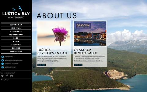 Screenshot of About Page lusticabay.com - About us | Luštica Bay - captured Sept. 30, 2014
