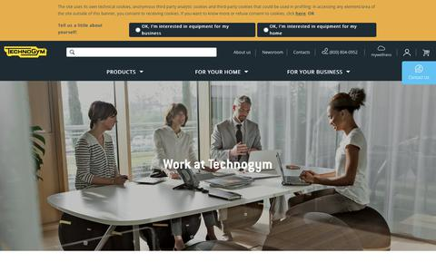 Screenshot of Jobs Page technogym.com - Work with us | Career Opportunities | Technogym - captured Aug. 4, 2018