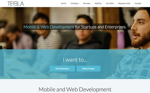 Screenshot of Home Page teclalabs.com - Mobile & Web Development Company - San Francisco | Tecla Labs - captured Aug. 18, 2016