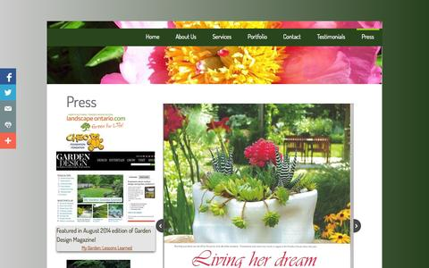 Screenshot of Press Page cmld.ca - CMLD-Press - captured Sept. 26, 2014