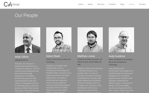 Screenshot of Team Page cad-ltd.co.uk - C+A Design | About C+A, our approach and our people - captured Oct. 11, 2017