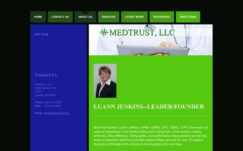 Screenshot of About Page medtrust.us - About Us | Medical Billing & Consulting - captured Oct. 27, 2014