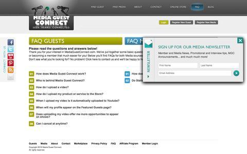 Screenshot of FAQ Page mediaguestconnect.com - MediaGuestConnect - F.A.Q - captured Nov. 28, 2016