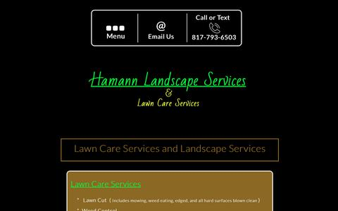 Screenshot of Services Page hamannlandscape.com - Hamann Landscape Services - Services - captured July 13, 2017