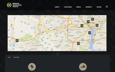 Screenshot of Locations Page theaterchurch.com - Locations – Theaterchurch - captured Sept. 19, 2014