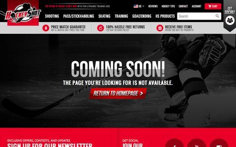 Screenshot of Site Map Page hockeyshot.com - Coming Soon - captured Jan. 30, 2016