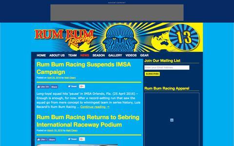 Screenshot of Press Page rumbumracing.com - Rum Bum Racing - captured Sept. 21, 2018
