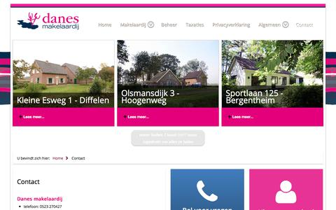 Screenshot of Contact Page danesmakelaardij.nl - Contact - captured Aug. 5, 2018