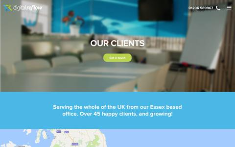 Screenshot of Maps & Directions Page digitalreflow.co.uk - Digital Reflow - Client map - captured June 4, 2017