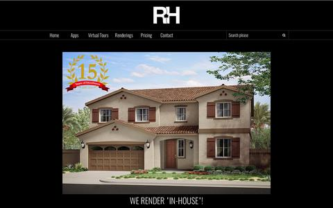 Screenshot of Home Page renderinghouse.com - Rendering House     New Home Visualization - captured June 16, 2017