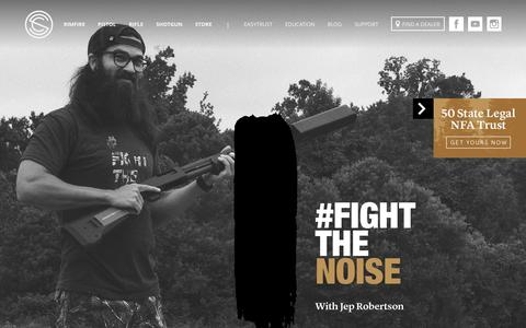 Screenshot of Home Page silencerco.com - Suppressors | Silencers - SilencerCo - captured Oct. 1, 2015