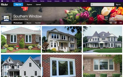 Screenshot of Flickr Page flickr.com - Flickr: Southern Window & Siding's Photostream - captured Oct. 26, 2014