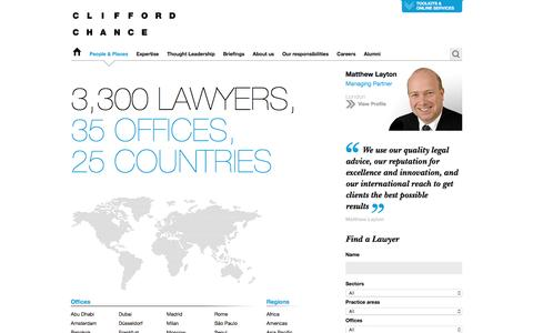 Clifford Chance | People & Places