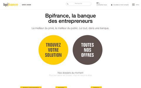 Screenshot of Home Page bpifrance.fr - Bpifrance - Servir l'Avenir - captured Sept. 25, 2018