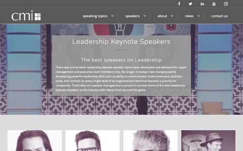 Screenshot of Team Page cmispeakers.com - Leadership Keynote Speakers | CMI Speaker Management - captured Dec. 16, 2018