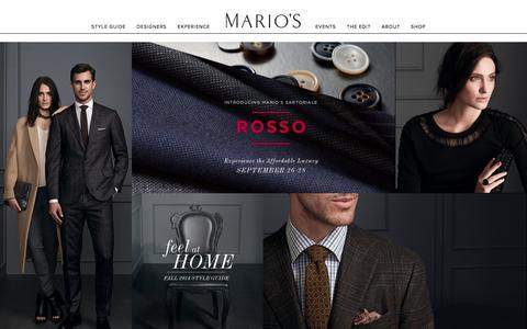 Screenshot of Home Page marios.com - Marios | Home - captured Sept. 30, 2014