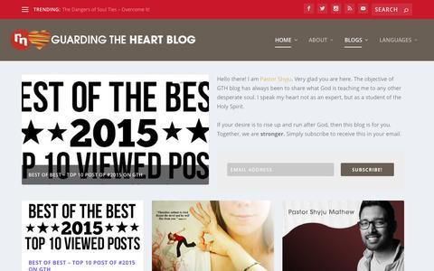 Screenshot of Blog revivenations.org - Guarding The Heart Blog | By #ReviveNations - captured Jan. 18, 2016