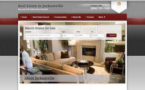 Screenshot of Home Page flasold.com - Real Estate in Jacksonville | Buy and Sell with James Burbach - captured Oct. 15, 2015