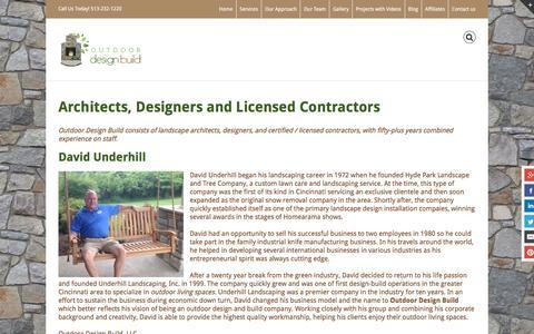 Screenshot of Team Page outdoordesignbuild.com - An Award-Winning Outdoor Design Company in Cincinnati - captured Feb. 26, 2016