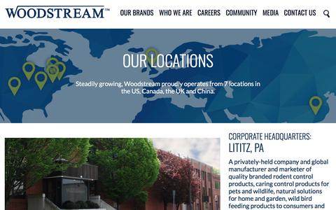 Screenshot of Locations Page woodstream.com - Locations | Woodstream Corporation - captured Sept. 22, 2018