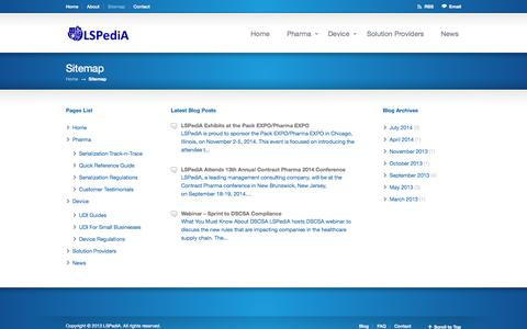 Screenshot of Site Map Page lspedia.com - Sitemap «  LSPediA - captured Oct. 1, 2014