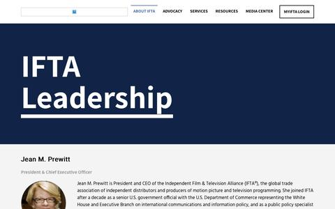 Screenshot of Team Page ifta-online.org - Leadership | Independent Film & Television Alliance - captured Jan. 5, 2020