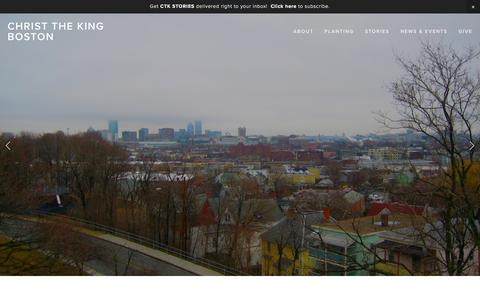 Screenshot of Home Page ctkboston.org - Christ the King Boston - captured Jan. 27, 2016