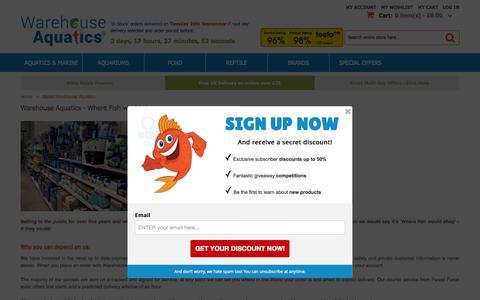 Screenshot of About Page warehouse-aquatics.co.uk - About  Warehouse Aquatics - captured Sept. 25, 2015