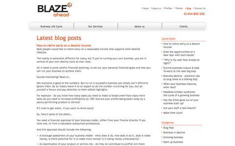 Screenshot of Blog blazeahead.co.uk - Blaze Ahead - captured Oct. 5, 2014