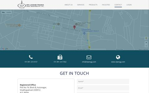Screenshot of Contact Page slpengg.com - Contact | - captured Sept. 30, 2017