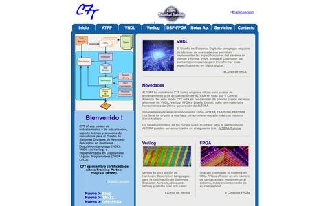 Screenshot of Home Page c7t-hdl.com - C7T - VHDL, Verilog & FPGA - captured Oct. 1, 2014