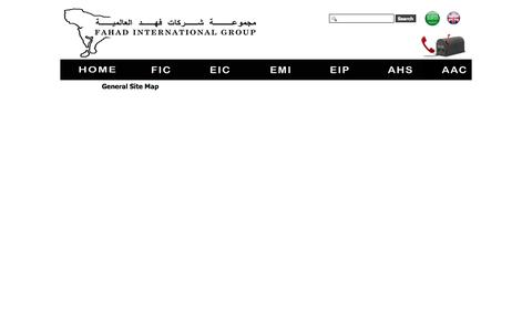 Screenshot of Site Map Page fahadholding.com - General Site Map - captured Oct. 2, 2014