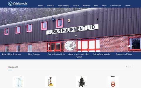 Screenshot of Home Page caldertech.com - Caldervale Technology Ltd - captured Sept. 25, 2018