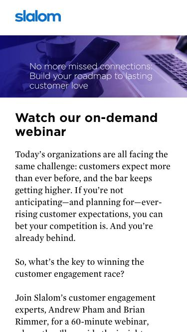 Customer Engagement Success Webinar