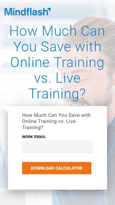 Online Training ROI calculator
