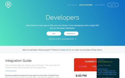 Screenshot of Developers Page usebutton.com - Button | Developers - captured Nov. 17, 2015