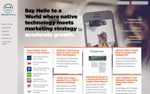Digital, Social, Mobile Marketing | HelloWorld