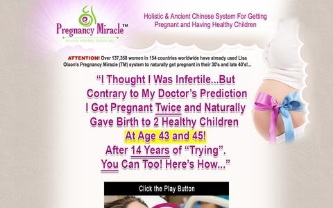 Screenshot of Home Page Site Map Page pregnancymiracle.com - Pregnancy Miracle™ - Official Website - captured Sept. 22, 2018