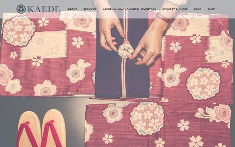 Screenshot of Home Page kaedenyc.com - KaedeNYC LLC - Kimono Rentals and Sales in New York - captured Sept. 20, 2018